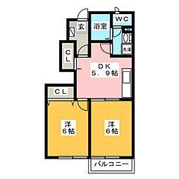 ラッフィナート観世音寺[1階]の間取り