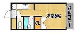 エステートピアセルベーユ2[2階]の間取り