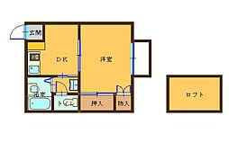 千葉県浦安市今川2丁目の賃貸アパートの間取り