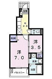 埼玉県川越市の賃貸アパートの間取り