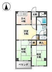 パークサイドマンション小川[3階]の間取り