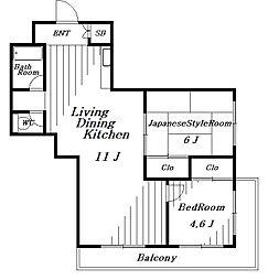 稲毛クレスト[2階]の間取り