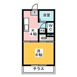 グリーンハウス平田[1階]の間取り