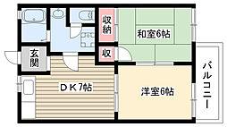 ボナール松井[101号室]の間取り