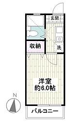 ラベンダー湘南III[2階]の間取り