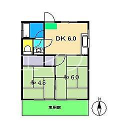 畠中アパート[1階]の間取り
