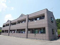岡山県倉敷市連島町亀島新田の賃貸アパートの外観