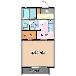 三重県鈴鹿市須賀3丁目の賃貸アパートの間取り