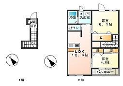 テンダー[2階]の間取り