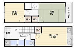 [一戸建] 大阪府大阪市平野区喜連東2丁目 の賃貸【/】の間取り