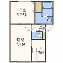 オカップ・N[3階]の間取り