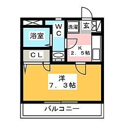 第16川崎ビル[6階]の間取り