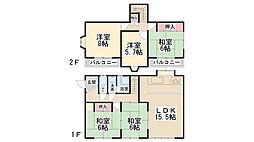 [一戸建] 兵庫県川西市大和西1丁目 の賃貸【兵庫県 / 川西市】の間取り