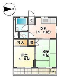 コーポ丹羽[2階]の間取り