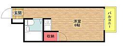 ロレーヌ住之江[1階]の間取り