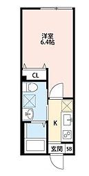 クレアシオン中板橋[103号室]の間取り