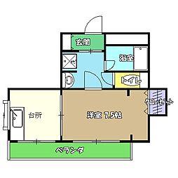 高知県高知市愛宕山の賃貸アパートの間取り