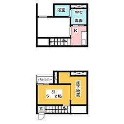 Alba港栄[1階]の間取り