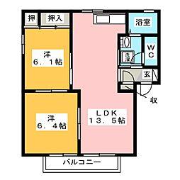 シャーメゾン20 B棟[2階]の間取り