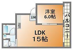 SotRK Apartment 南堀江[5階]の間取り