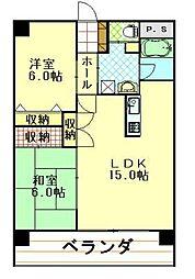 e−環境秋田ビル[702号室]の間取り