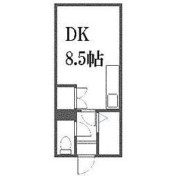 北海道札幌市白石区東札幌四条1丁目の賃貸マンションの間取り