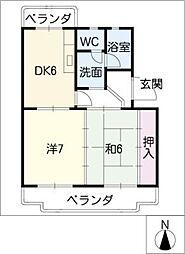 アベニューサンフラワー[2階]の間取り