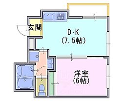 ファミリエ桂川[3階]の間取り