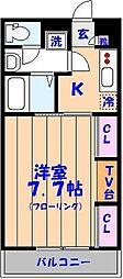 リブリ・エル・エー[1階]の間取り