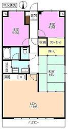 長野県松本市双葉の賃貸マンションの間取り