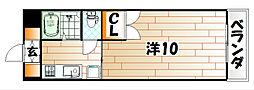 福岡県北九州市八幡東区春の町4の賃貸マンションの間取り