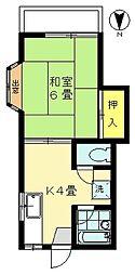 シャトー米山[101号室号室]の間取り