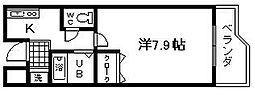 セゾンコート春木[1号室]の間取り