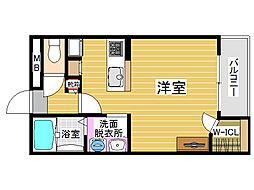 レオネクスト藤[2階]の間取り