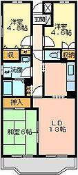 ガーデンビラ大宮[305号室]の間取り