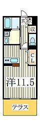 カトルセゾンB[2階]の間取り