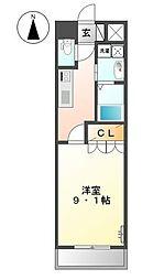 神奈川県横浜市鶴見区向井町3丁目の賃貸マンションの間取り