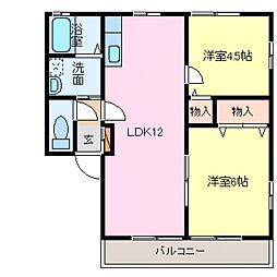 レトアDUO B棟[101号室号室]の間取り