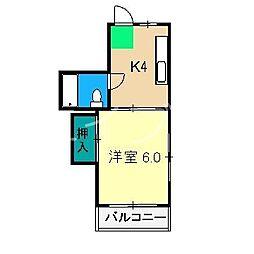 第4つくもコーポ[3階]の間取り
