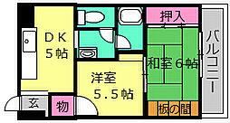 大浜TKハイツ[4D号室]の間取り