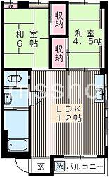 7569−泉脇マンション[3階]の間取り