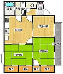 メゾン隅田[202号室]の間取り