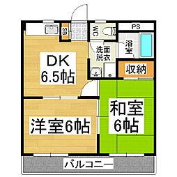 マンションTEZUKA[2階]の間取り