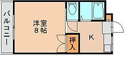 ベルドーレ21[2階]の間取り