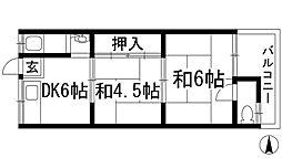シェルハウス[1階]の間取り