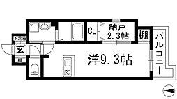 ONLYONE鶴之荘[9階]の間取り