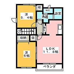 マジョリティー[2階]の間取り