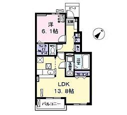 愛知県清須市西田中蓮池の賃貸アパートの間取り