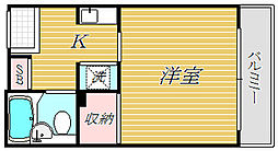 MAN大井町[3階]の間取り