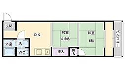 鶴見マンションヨシモト[205号室]の間取り
